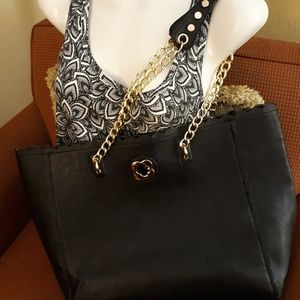 Preowned Large Black Tote Bag